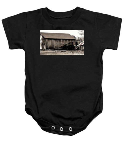 Barn And Truck Baby Onesie