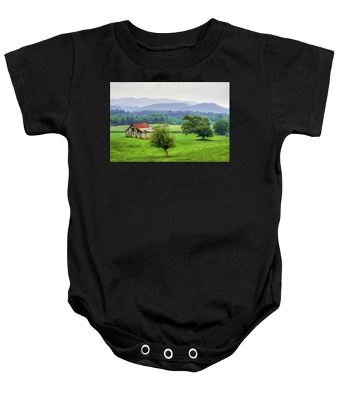 Barn In Smokies 2 Baby Onesie