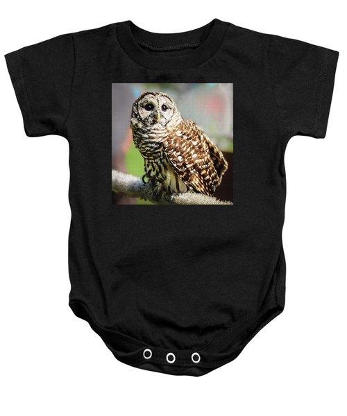 Barred Owl Baby Onesie