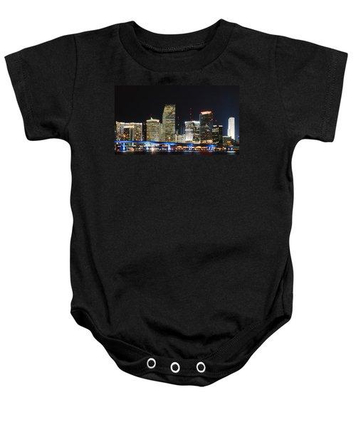 Bay Front Miami Skyline Baby Onesie