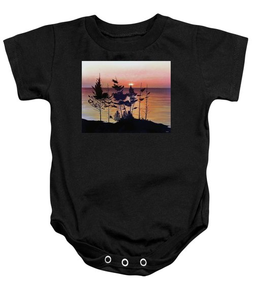 Bay Of Fundy Sunset Baby Onesie