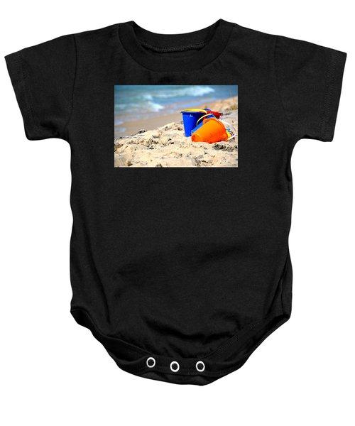 Beach Buckets Baby Onesie