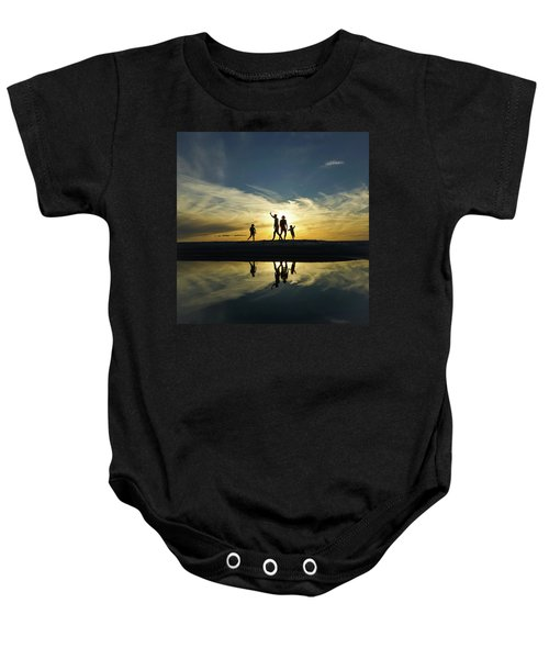 Beach Dancing At Sunset Baby Onesie