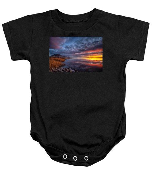 Bear Butte Lake Sunrise Baby Onesie