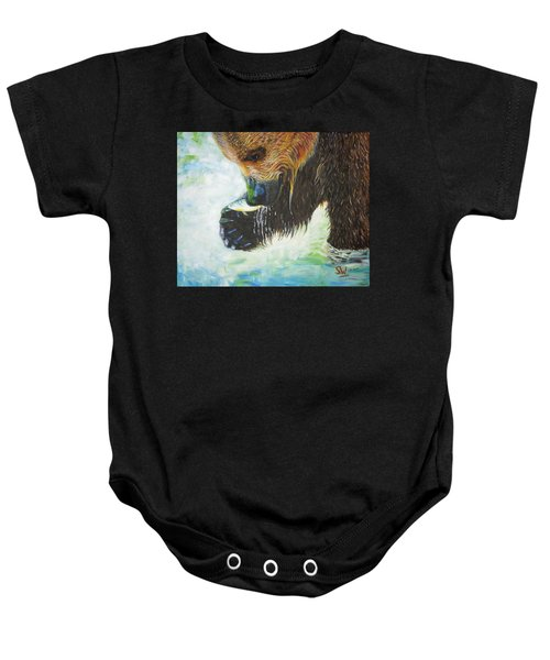Bear Fishing Baby Onesie