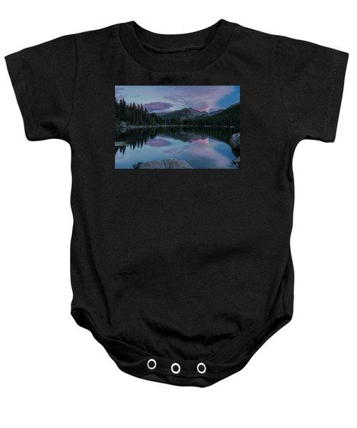 Bear Lake Sunset Baby Onesie