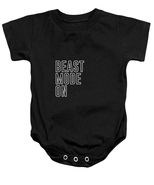 Beast Mode On - Gym Quotes - Minimalist Print - Typography - Quote Poster Baby Onesie