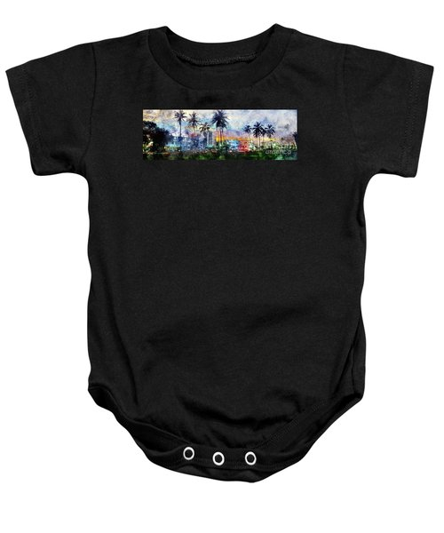 Beautiful South Beach Watercolor Baby Onesie by Jon Neidert