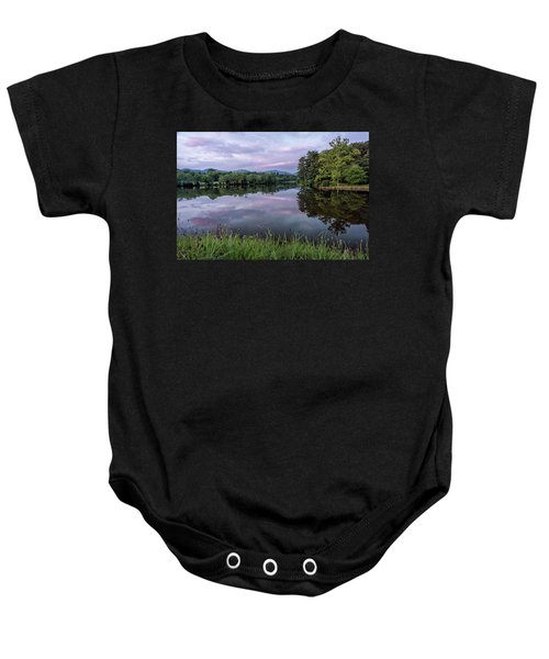 Beaver Lake Reflections Baby Onesie