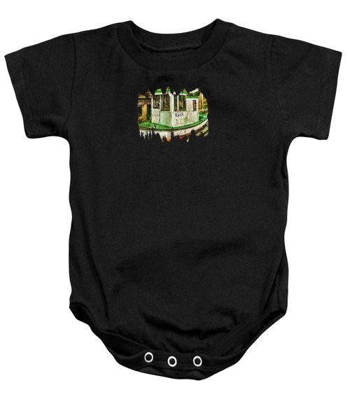 Beaver The Old Fishing Boat Baby Onesie by Thom Zehrfeld