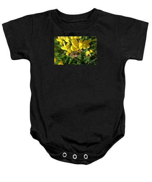 Bee And Broom In Bloom Baby Onesie