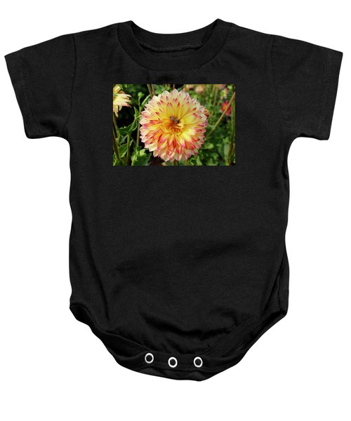 Bee In The Middle Baby Onesie