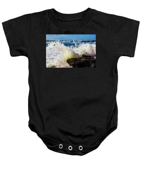 Wave Bending Backwards Baby Onesie