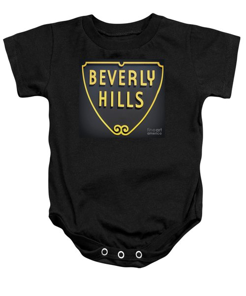 Beverly Hills Sign Baby Onesie by Mindy Sommers