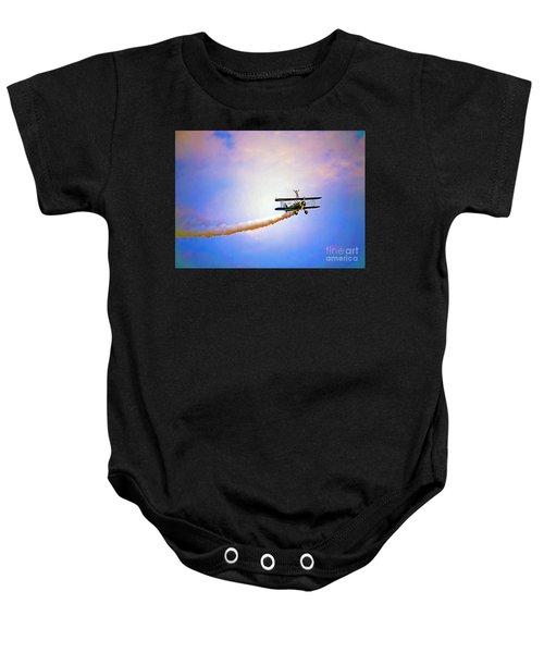 Bi-plane And Wing Walker Baby Onesie