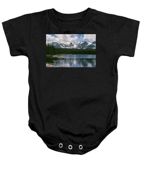 Bierstadt Lake Hallett And Otis Peaks Rocky  Mountain National Park Baby Onesie