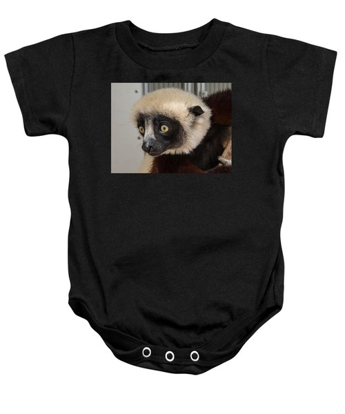 A Very Curious Sifaka Baby Onesie