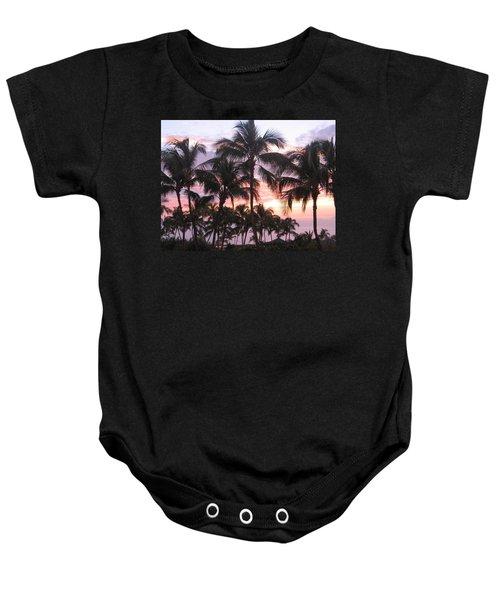 Big Island Sunset 3 Baby Onesie