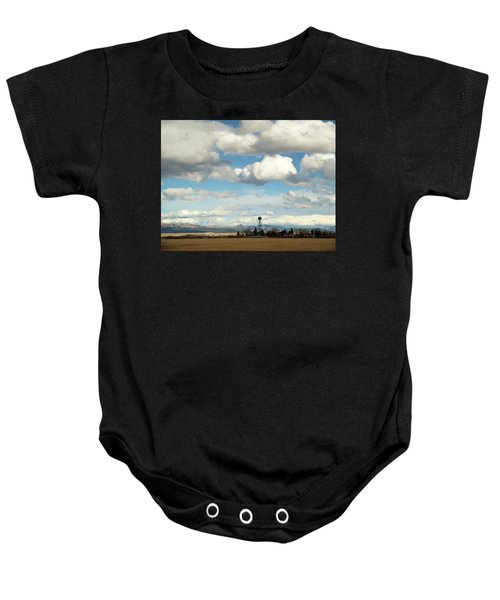 Big Sky Water Tower Baby Onesie