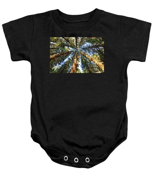Big Trees In Olympic National Park Baby Onesie