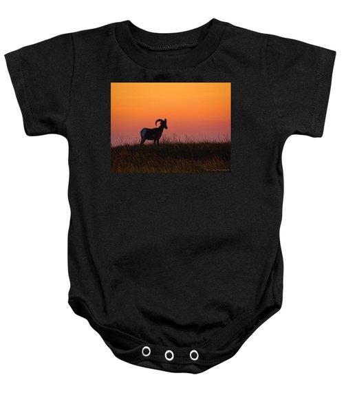 Bighorn Sunset Baby Onesie