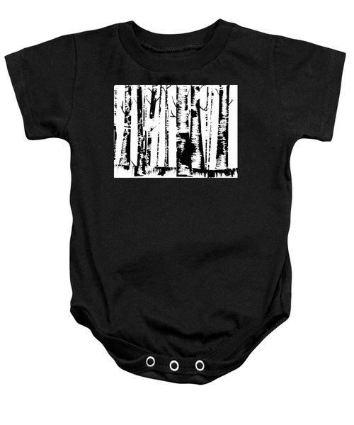 Birch Forest Black Baby Onesie