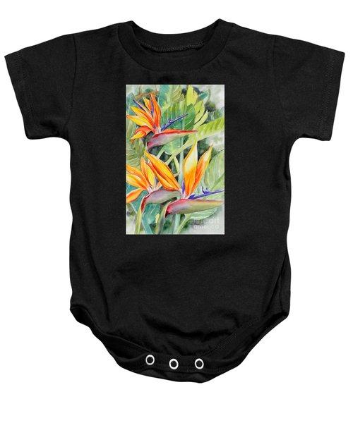 Bird Of Paradise Flowers Baby Onesie