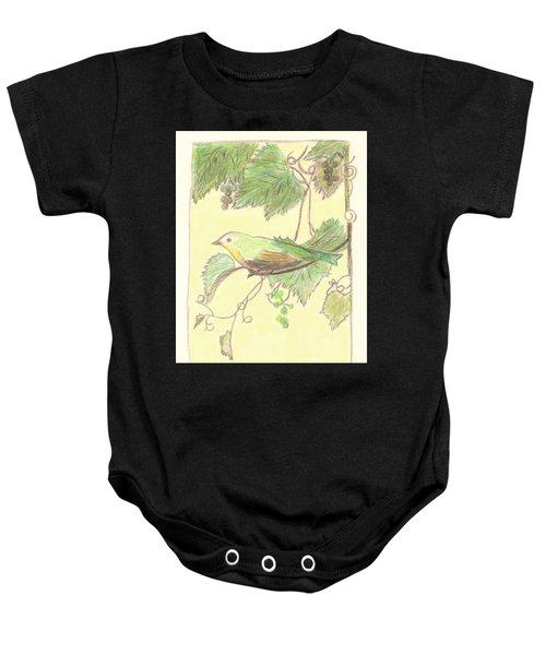 Bird On A Branch Baby Onesie