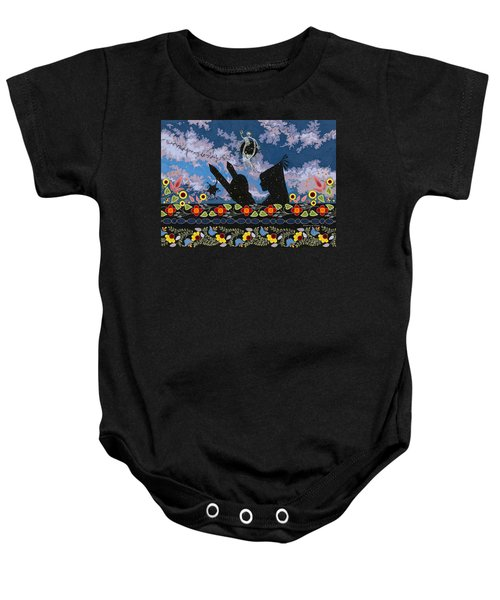 Baby Onesie featuring the painting Birth Of The Universe by Chholing Taha