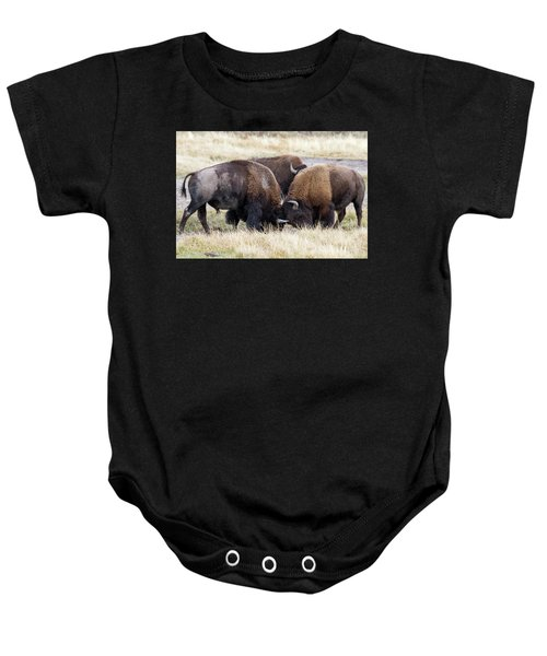 Bison Fight Baby Onesie