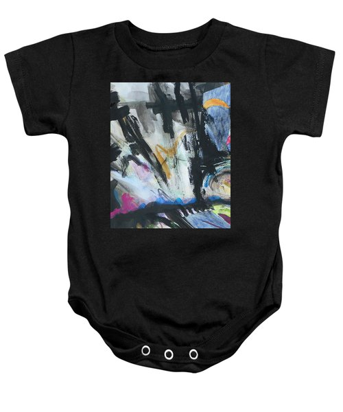 Black Abstract Baby Onesie