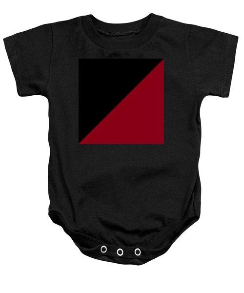 Black And Burgundy Triangles Baby Onesie
