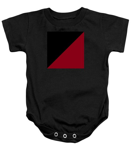 Black And Burgundy Triangles Baby Onesie