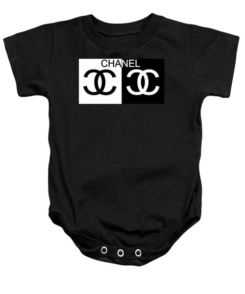 Black And White Chanel Baby Onesie