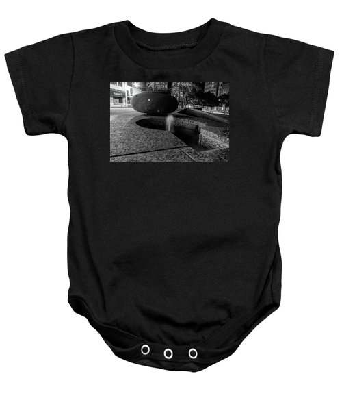 Black And White Fountain Baby Onesie