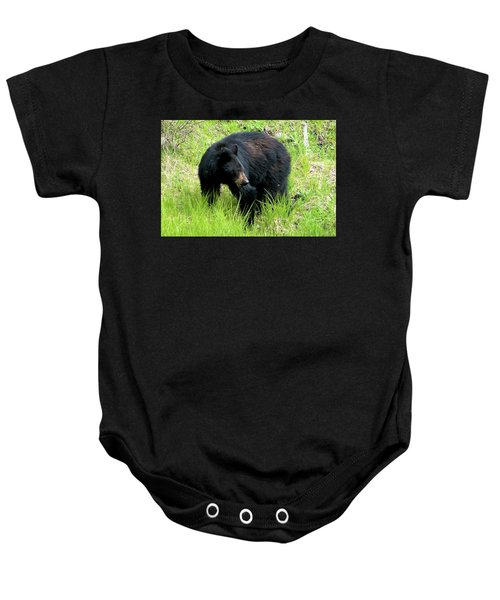 Black Bear Baby Onesie