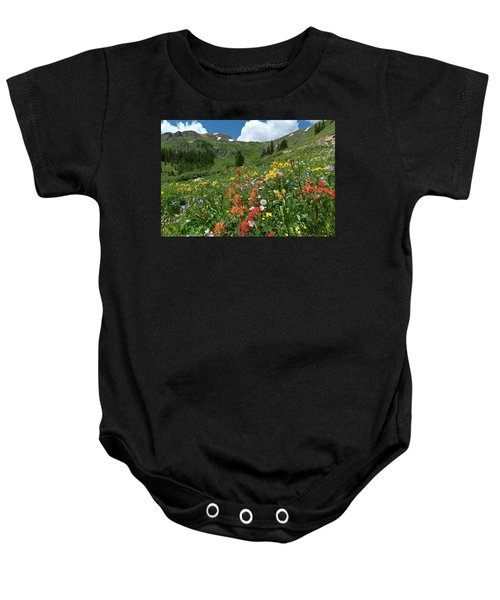 Black Bear Pass Landscape Baby Onesie