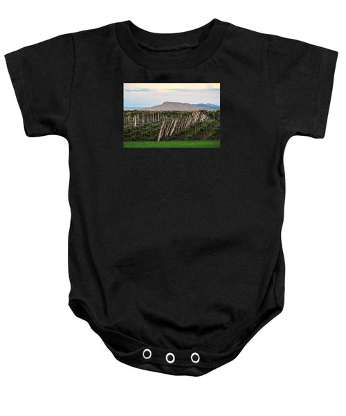 Black Birch Vineyard And Summit House View Baby Onesie
