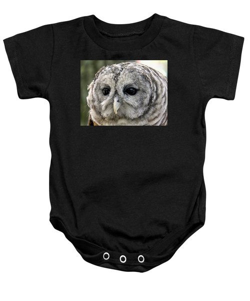 Black Eye Owl Baby Onesie