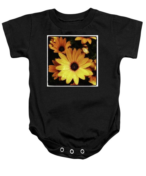 Baby Onesie featuring the photograph Black Eyed Susans. Looks Like They're by Mr Photojimsf