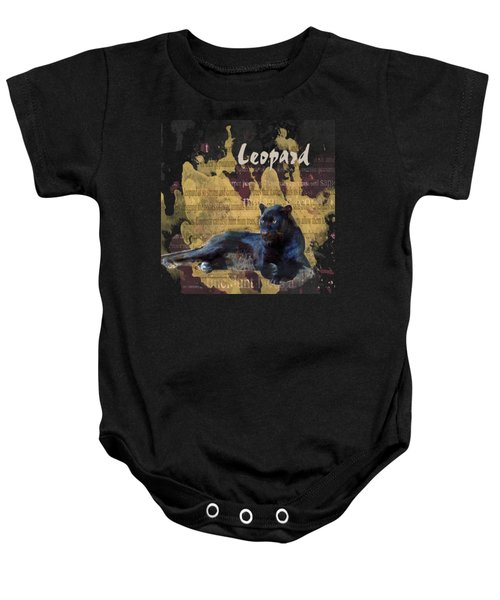 Black Leopard Baby Onesie by Methune Hively