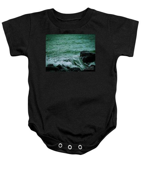 Black Rocks Seascape Baby Onesie