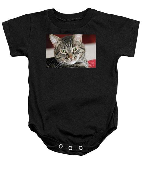 Black Tabby Baby Onesie