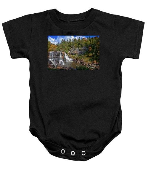 Blackwater Falls  In Autumn 3879c Baby Onesie