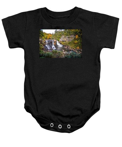 Blackwater Falls In Autumn3836c Baby Onesie