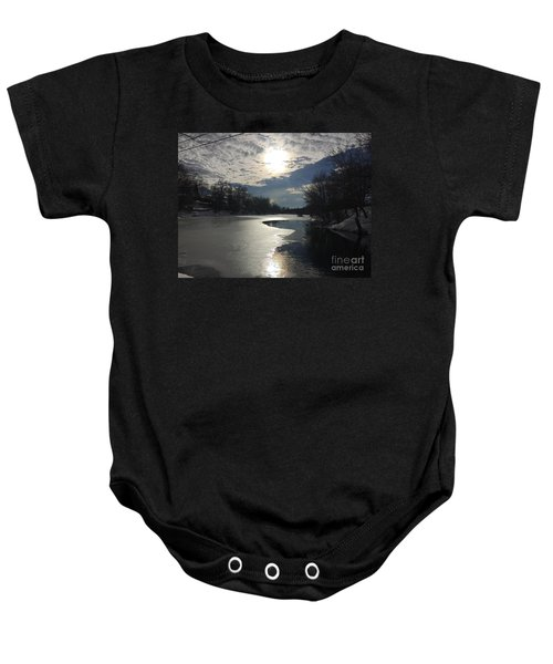 Blanket Of Clouds Baby Onesie
