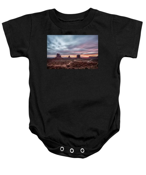 Blended Colors Over The Valley Baby Onesie