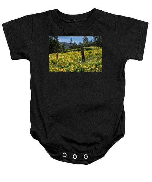 Blooming Fence Baby Onesie