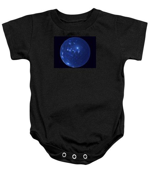 Blue Big Sphere With Squares Baby Onesie