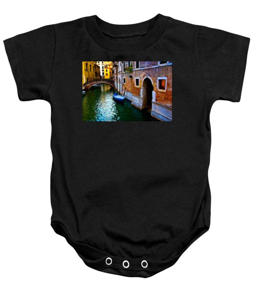 Blue Boat At Twilight Baby Onesie